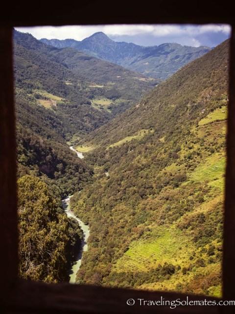 View from Trongza Dzong (Fortress), Bhutan