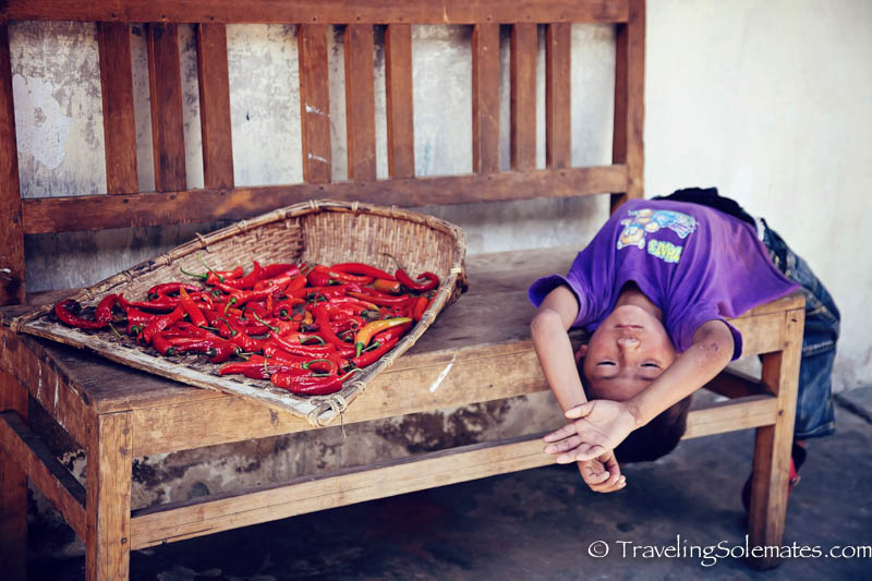 Little Boy and Chili Pepper, Trongsa, Bhutan