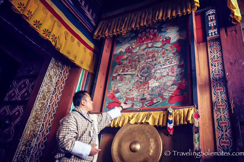 The Wheel of Life, Trongsa Dzong, Bhutan