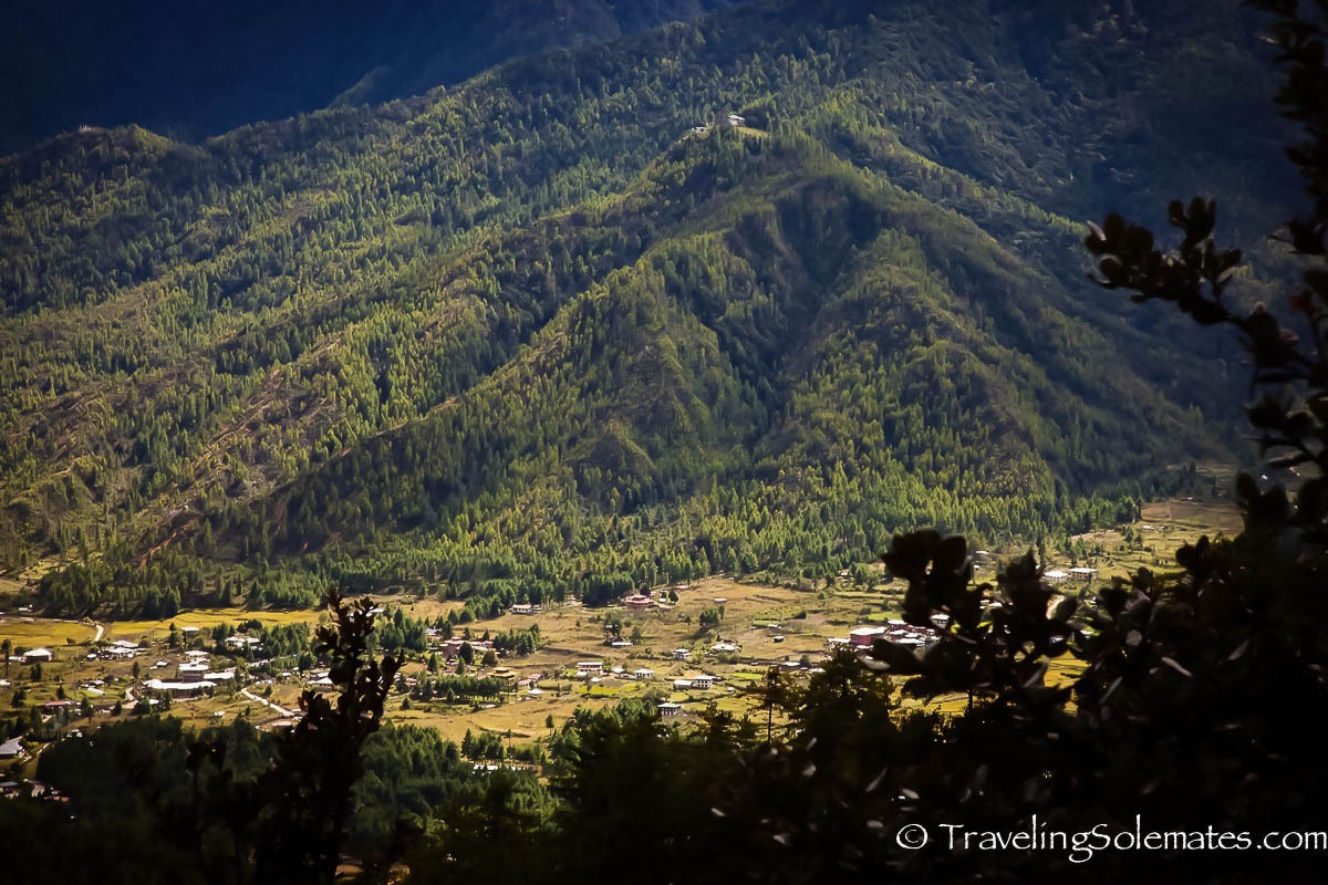 View of Paro Valley from the Hiking Trail to the Tiger's Nest Monastery, Paro, Bhutan