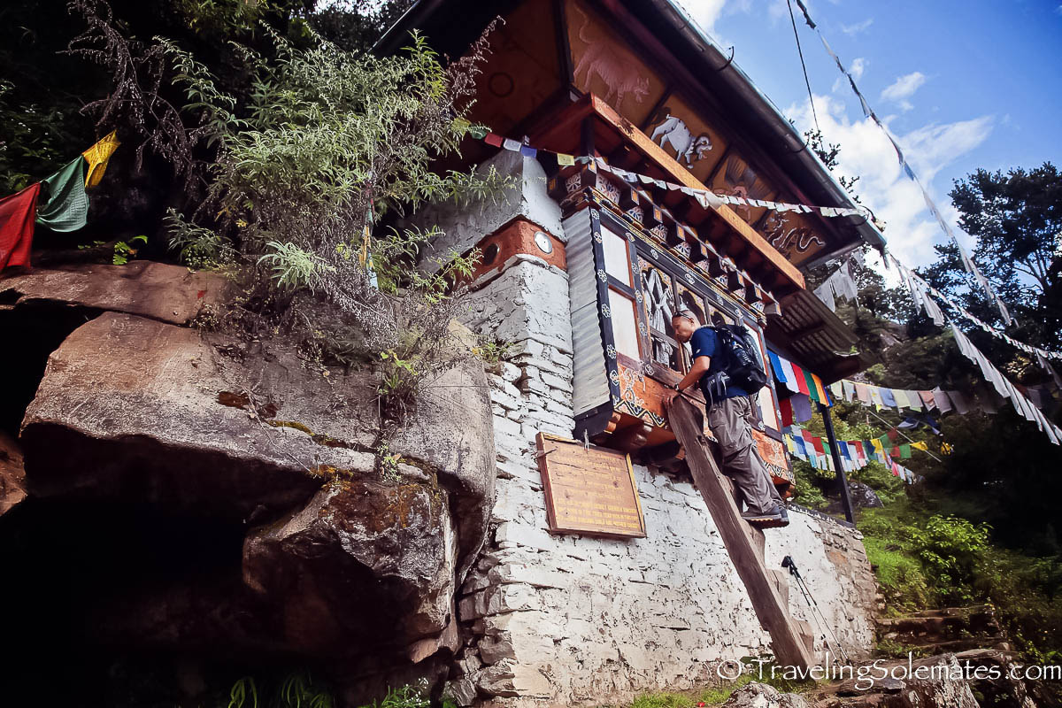 A cave shrine on  Hiking Trail to Tiger's Nest Monastery, Paro, Bhutan