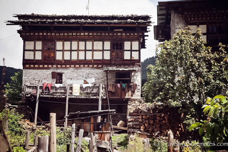 A house in Ura Village, Ura Valley, Bumthang, Bhutan