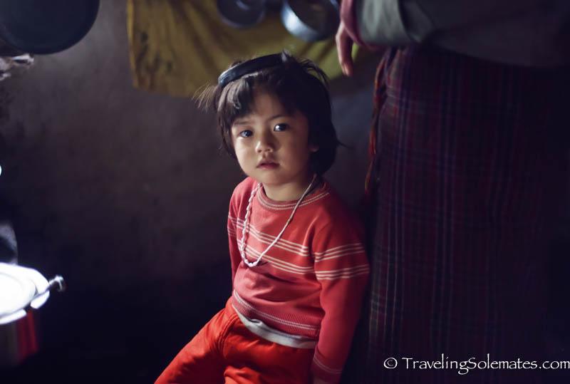 A little girl in Ura Valley, Bumthang, Bhutan