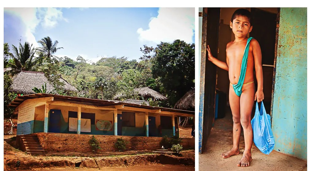 School in Embera Drua Village, Upper Charges, Panama