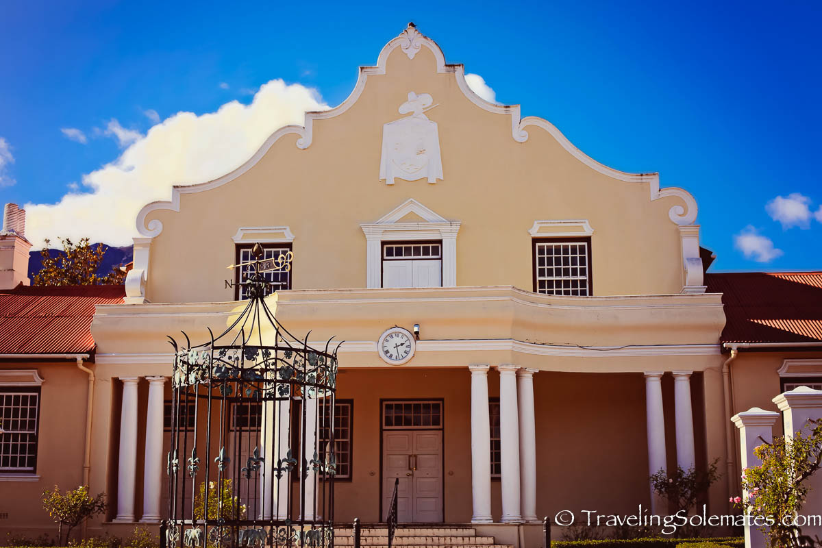 Dutch Colonial Builiding in Franschhoek, Winelands, South Africa