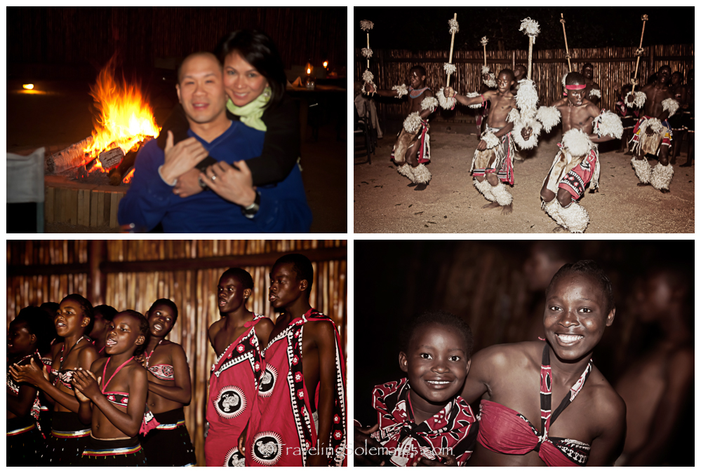 Bonfire and Perfomance at Safari Lodge in Kruger, South Africa