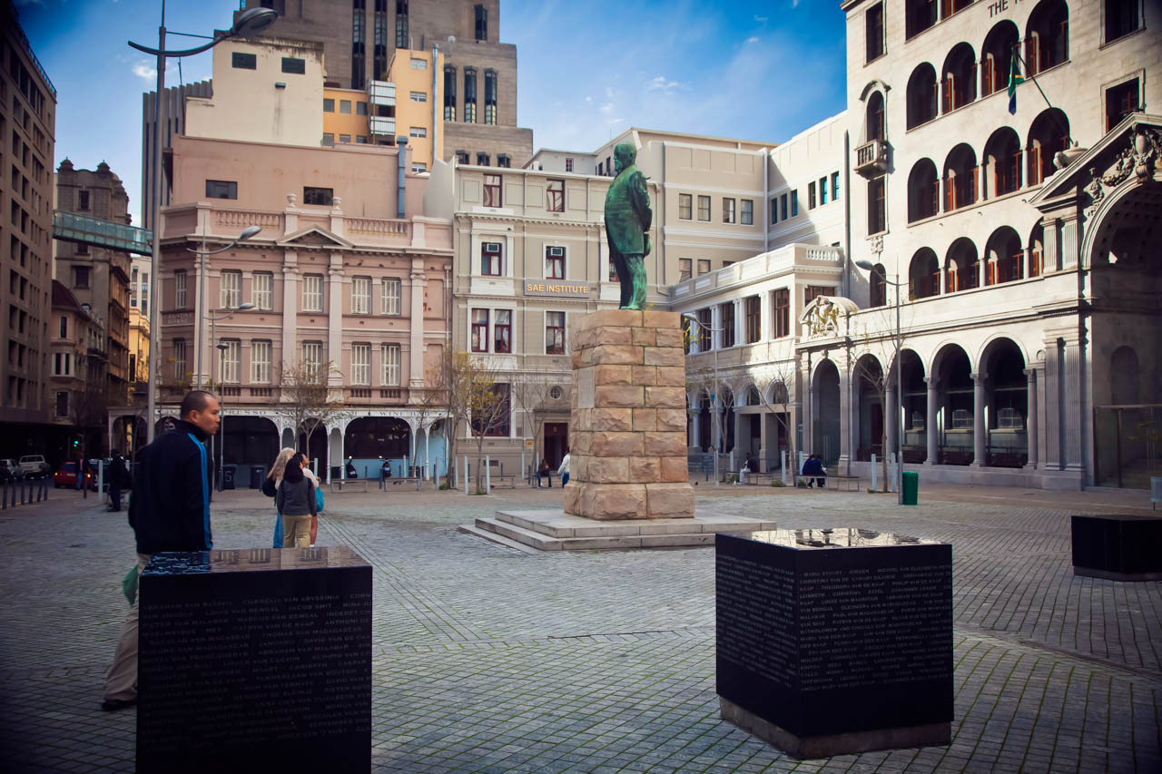 A square where slaves used to be sold, Cape Town, South Africa