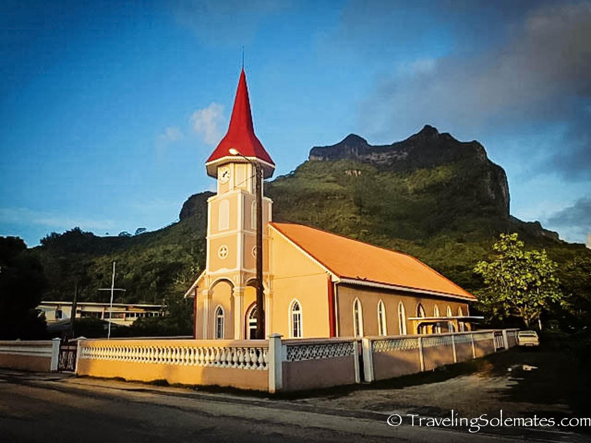 Church in Vaitape, Bora Bora