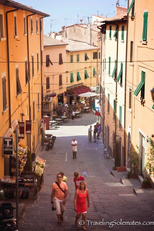 Street in Castagneto Carducci, Tuscany, Italy