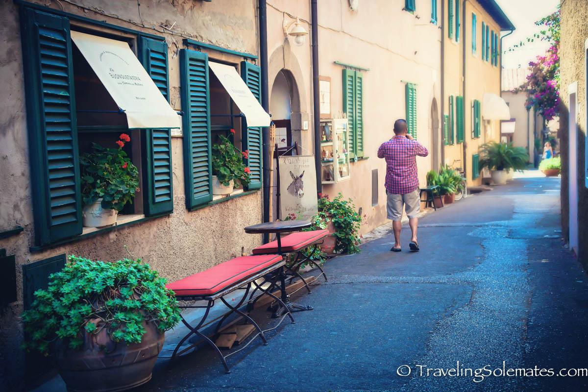 Street in Bolgheri, Tuscany, italy