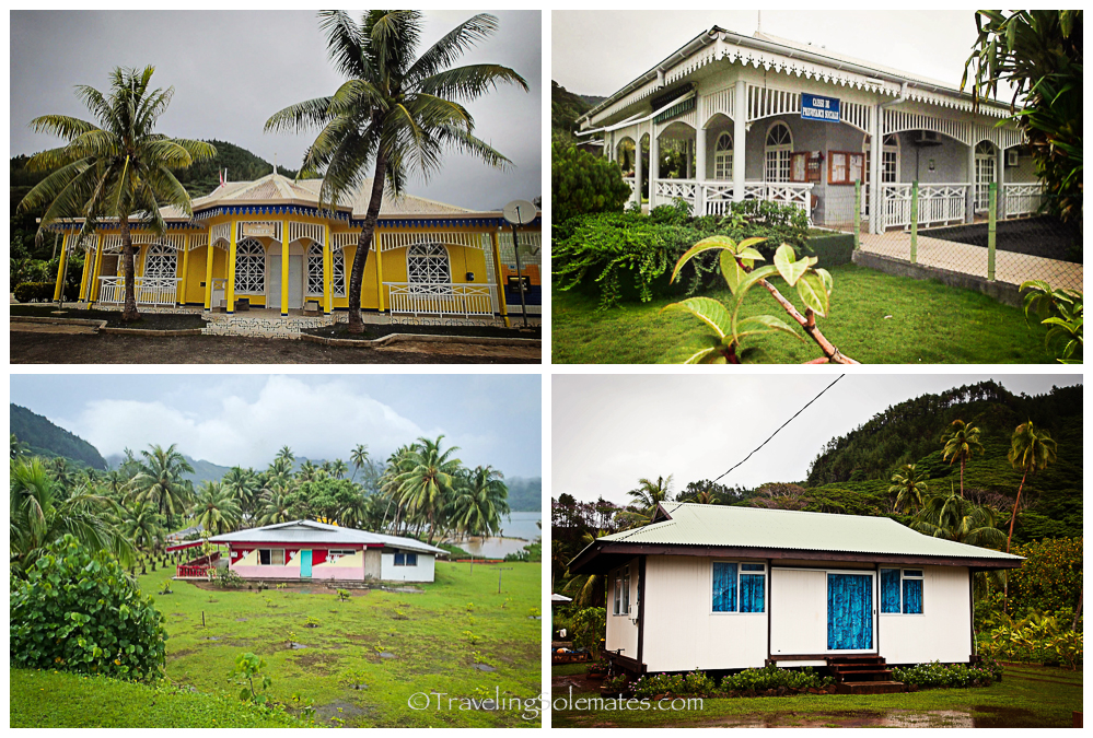 Houses and Buildings in Huahine, French Polynesia, South Pacific