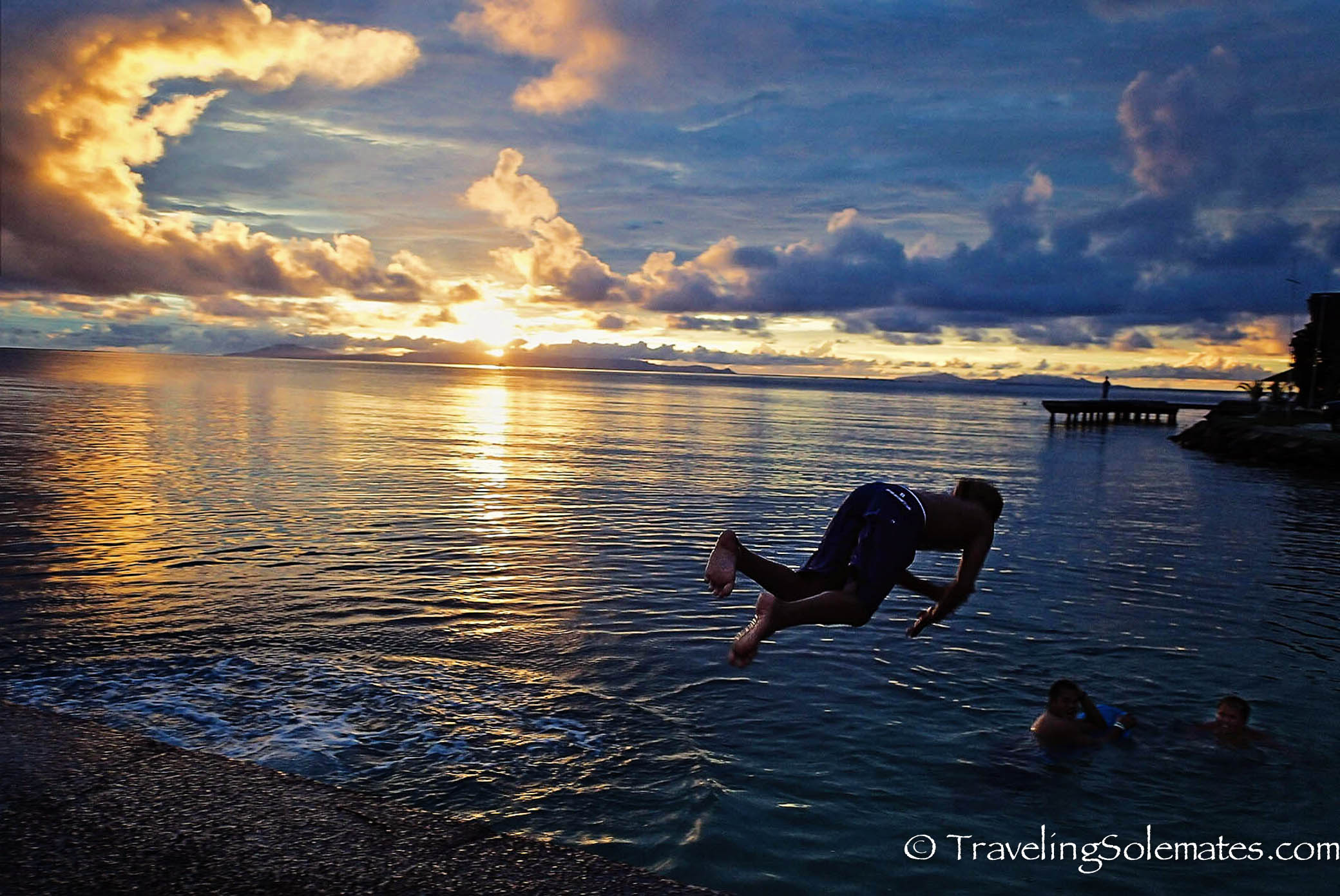 Sunset on Beaches  of Huahine, French Polynesia, South Pacific