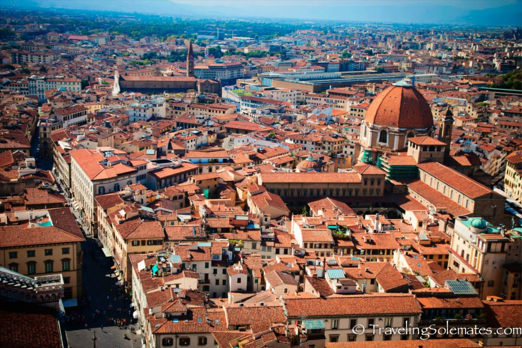 View from top of Duomo, Florence, Italy