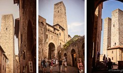 Towers in San Gimigniano, Tuscany, Italy