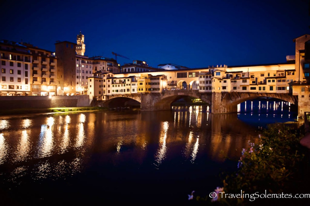 Ponte Vecchio at night, Florence, Italy