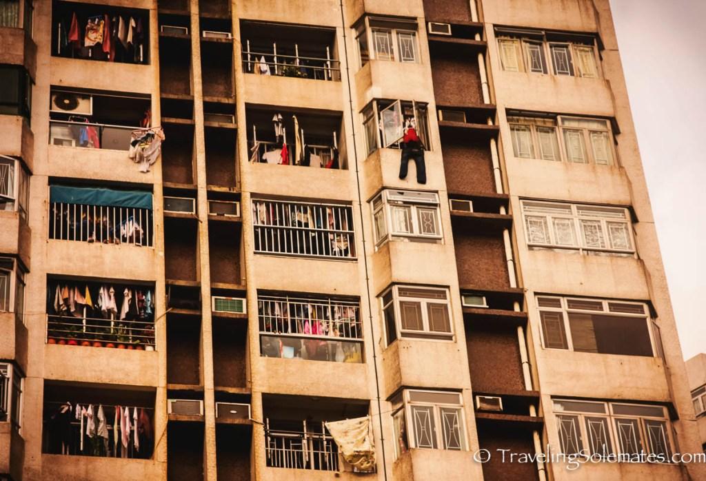 Apartment Building in Aberdeen, Hong Kong