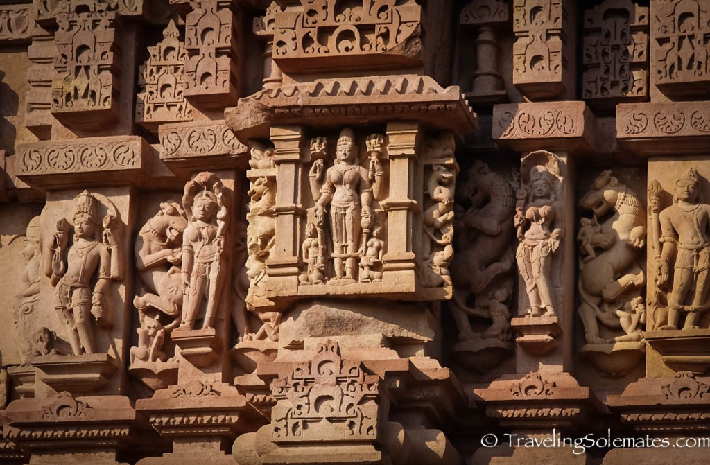 Stone carvings in Khajuraho Temples, Inida