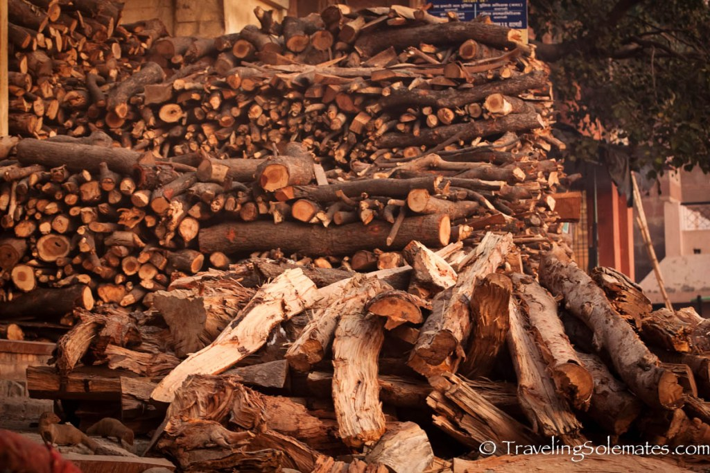 Cremation Wood, Ganges River, Varanasi, India