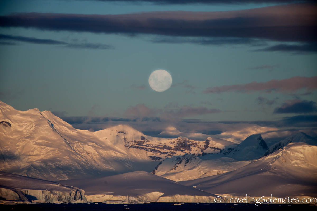 Full moon in Antarctica
