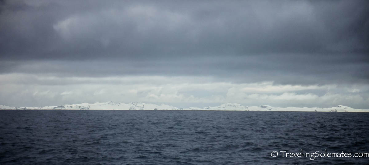 First land sighting in Antarctica, National Geographic Explorer, Lindbland Expeditions