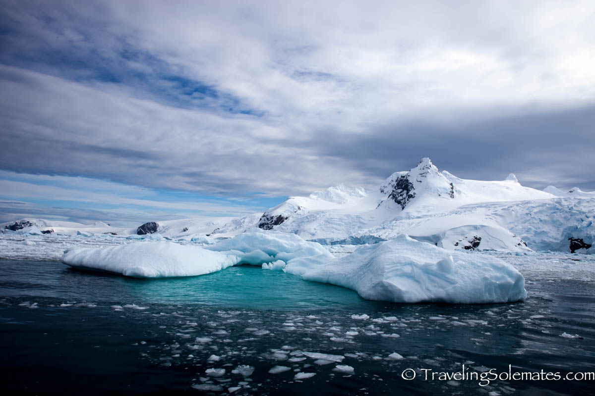 Ice covered mountains in Ciera Cove, Antartica, National Geographic Exploere, Lindblad Expeditions
