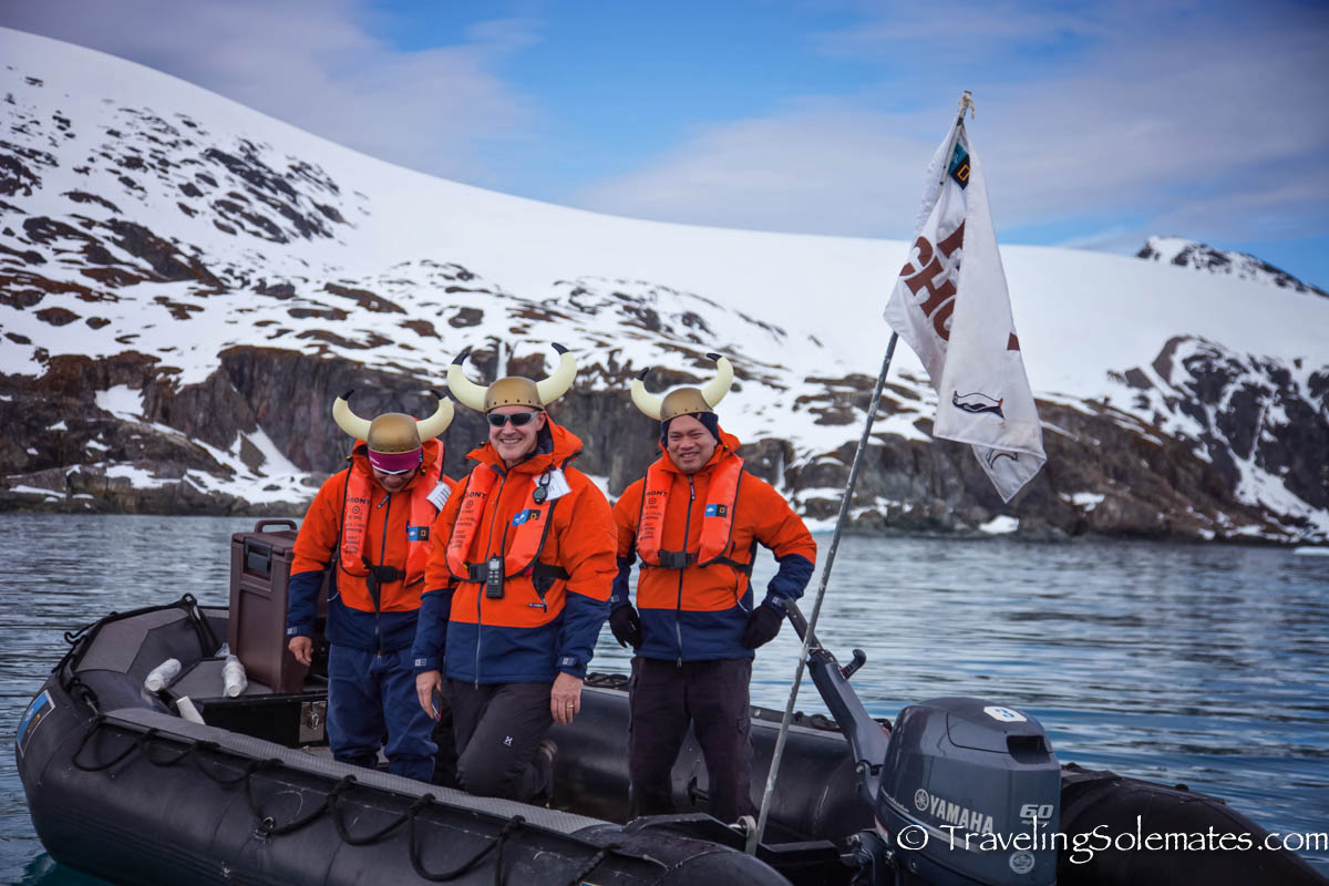 Hot Chocolate Boat by crew of National Geographic Explorer, Antarctica Expedition, Lindblad Expeditions