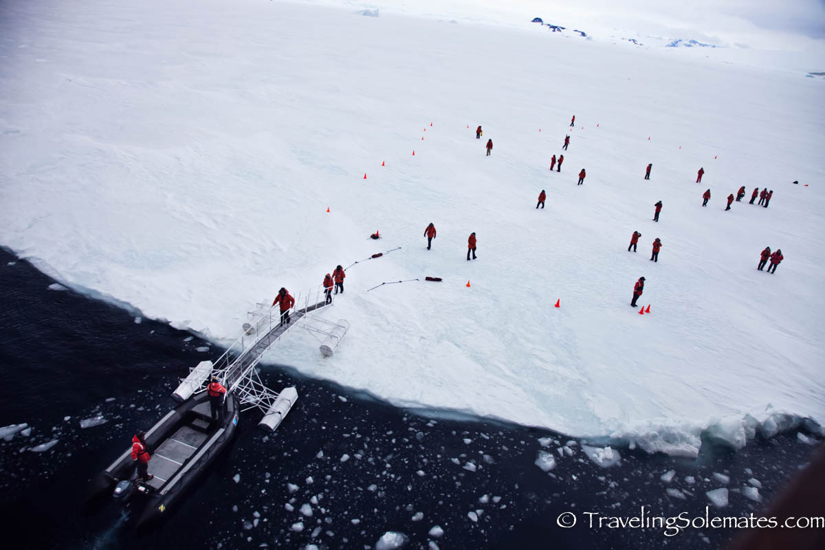 Walking on Sea Ice in Active Sound, Antarctica, National Geographic Explorer, Lindblad Expeditions
