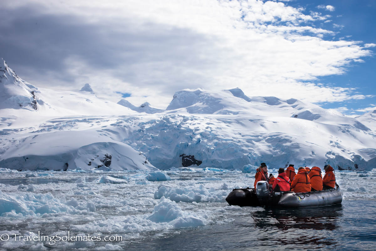 Zodiac Cruising, Cierva Cove, Antarctica, National Geographic Explorer, Lindblad Expeditions