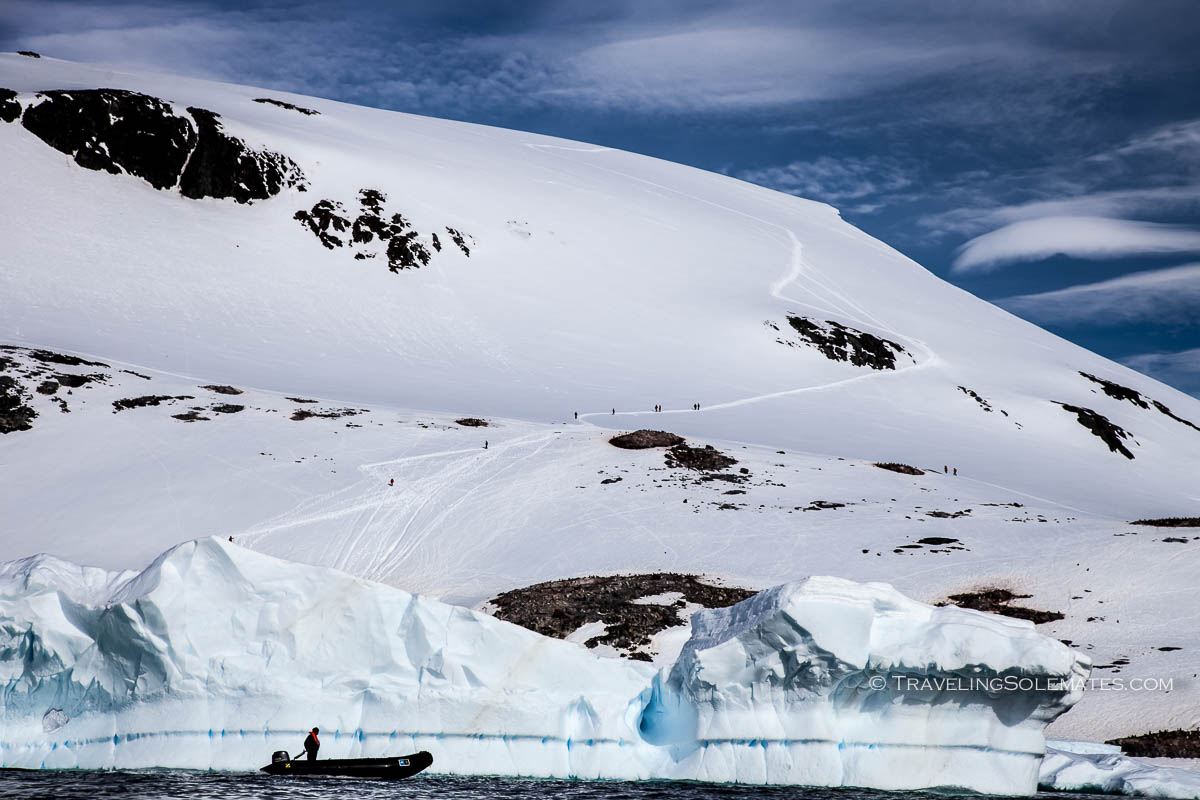 Hiking in Cuverville Island, Antarctica, National Geographic Explorer Lindblad Expeditions