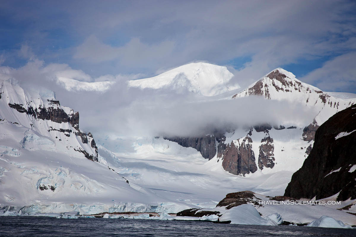 Mountains in Cuverville Island, Antarctica, National Geographic Explorer Lindblad Expeditions