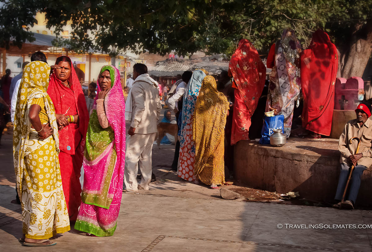 Women in the Town Center in Orchha, India