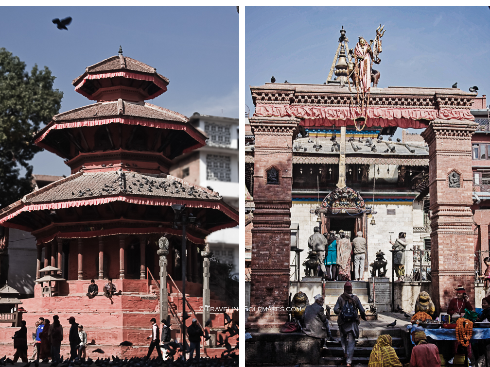 Temples in Durbar Square, Kathmandu, Nepal