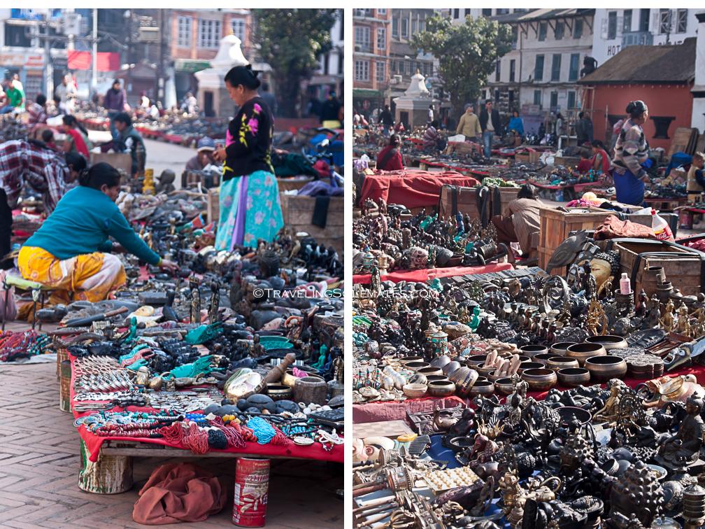 Bazaar in Durbar Square, Kathmandu, Nepal