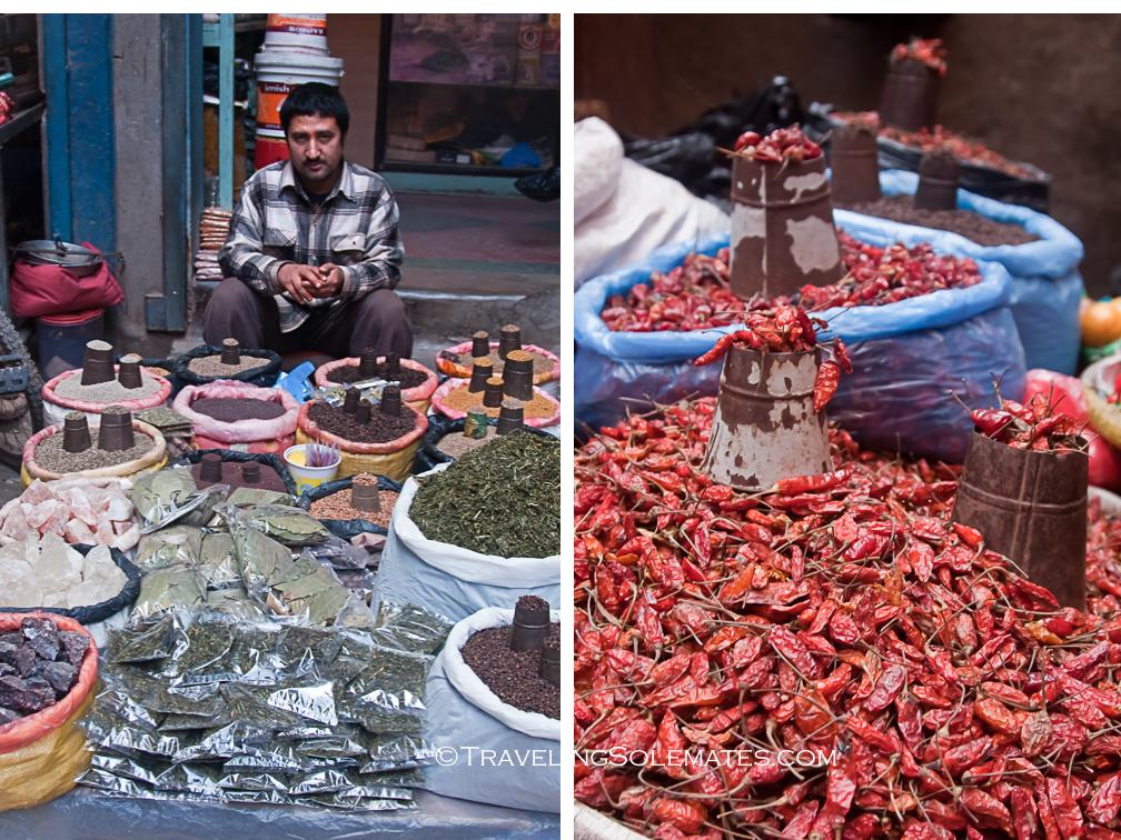Spices for sale, Market in Kathmandu, Nepal