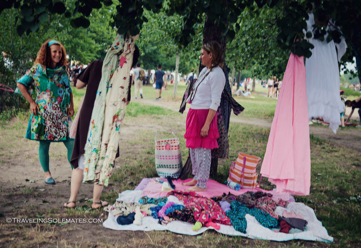 Clothing vendor in Mauerpark, Berlin, Germnany