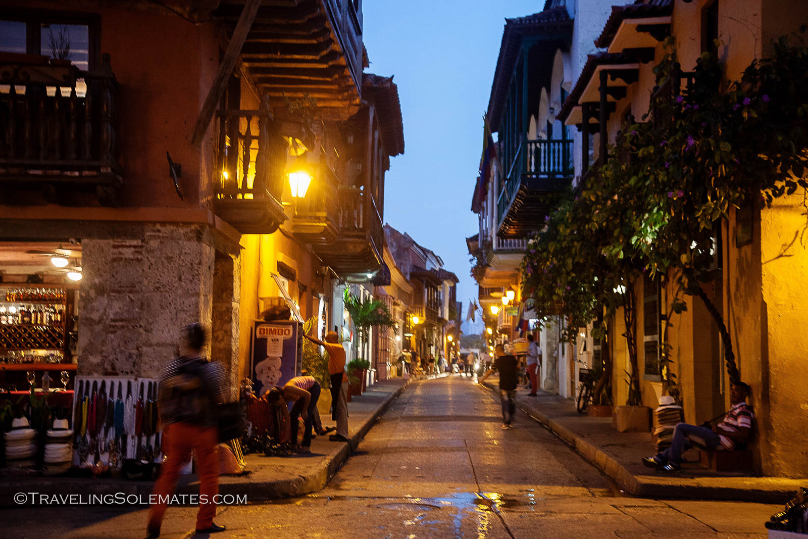 Street in Old Cartagena, Colombia