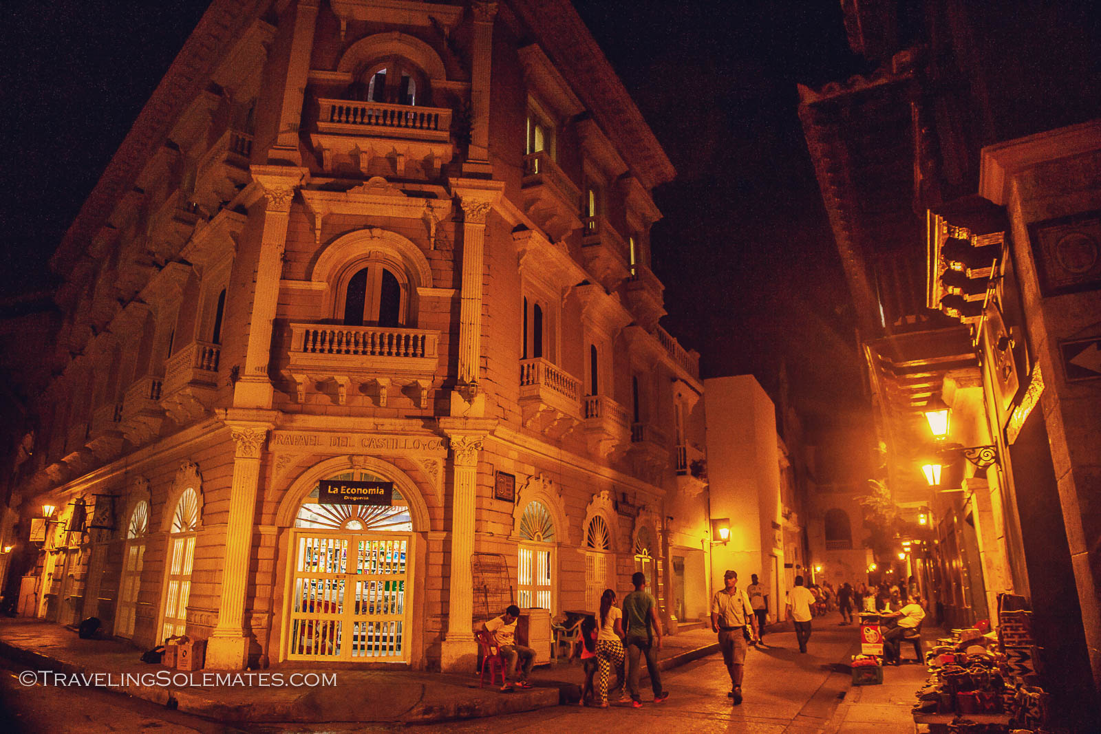 Old Cartagena at night, Colombia