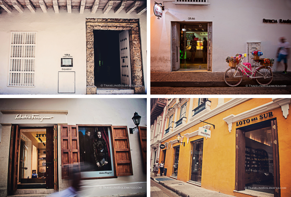 Restaurants and hops in Old Cartagena, Colombia