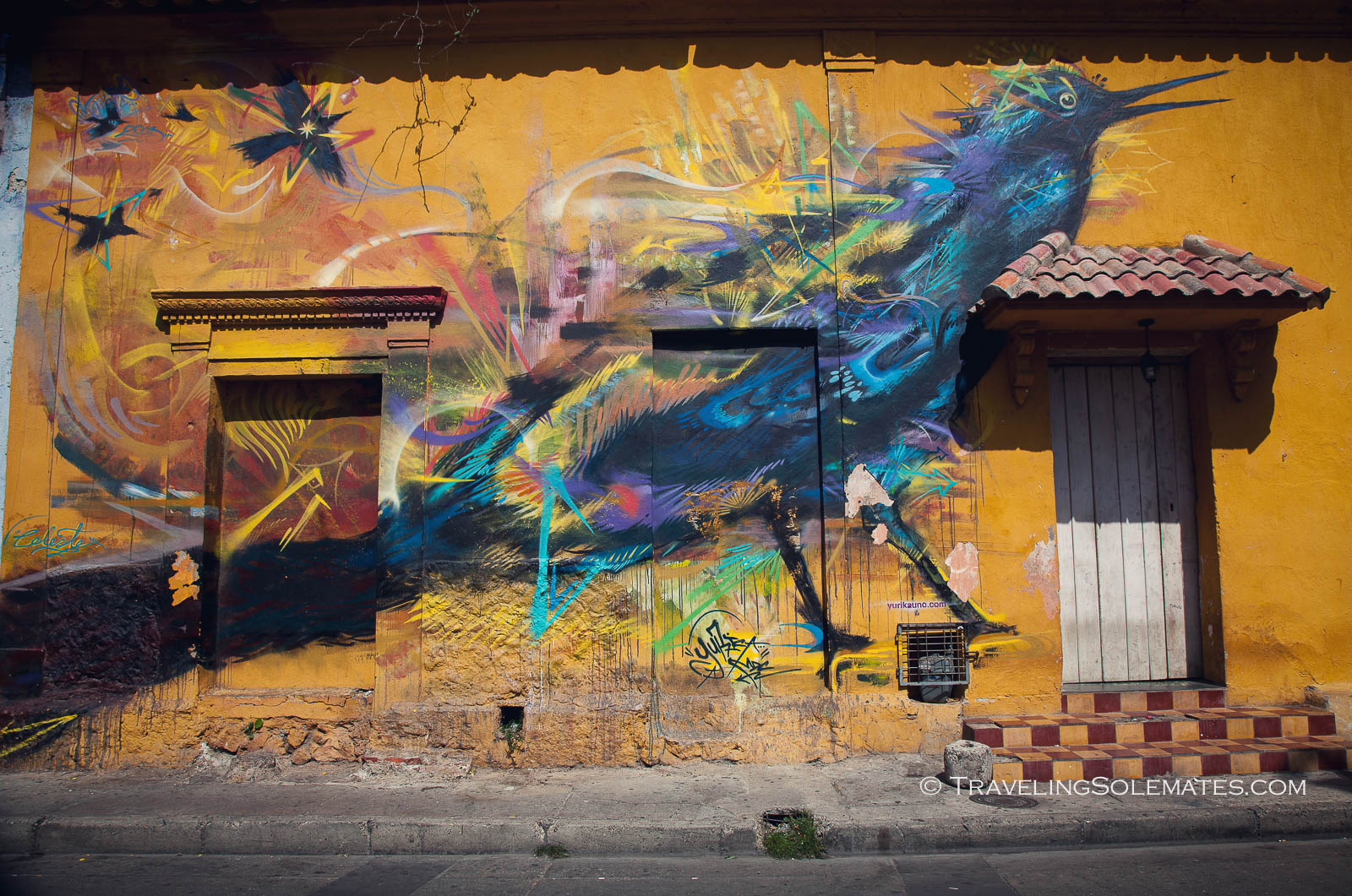 Street Art in Getsemani, Cartagena, Colombia