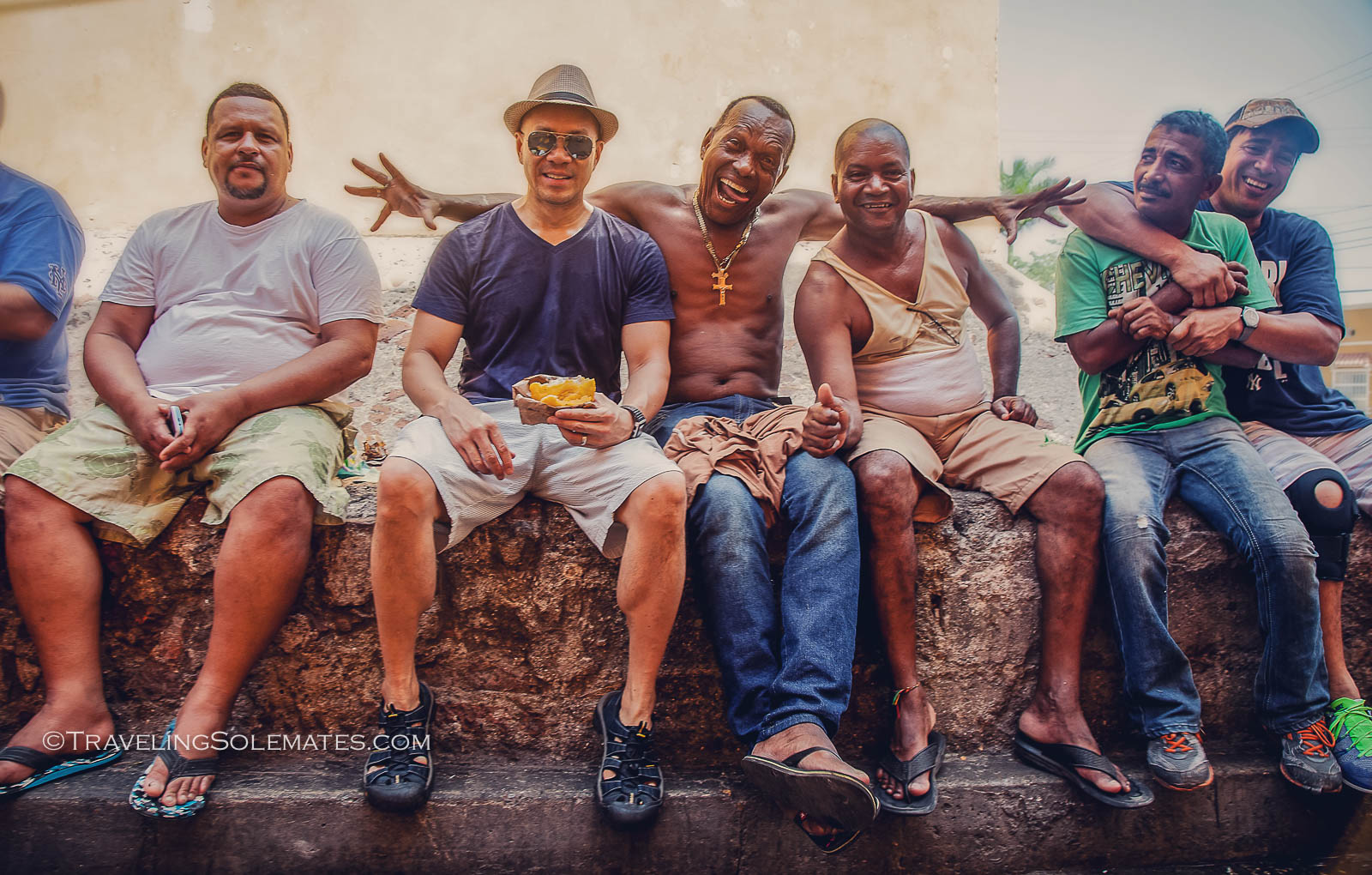 Friendly locals in Getsemani, Cartagena, Colombia