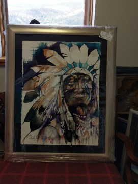 "Bradley Chance Hays' ""A Leader"" purchased from Vail Fine Art Uncrated."