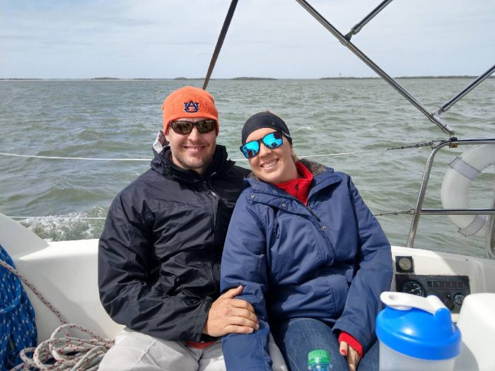 Checking one off Kristi's bucket list – sailing!