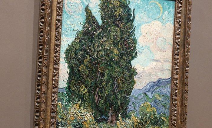 """Van Gogh's """"Cypresses"""" at Metropolitan Museum of Art."""
