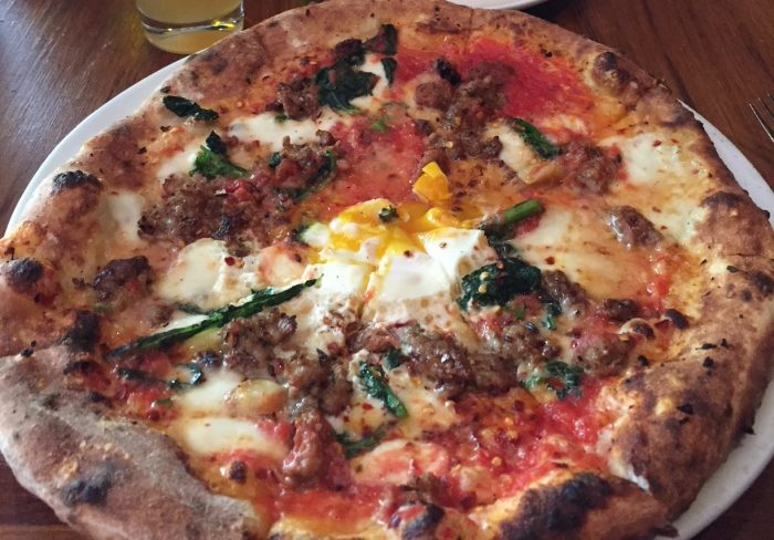 Pizza at Domenica New Orleans.