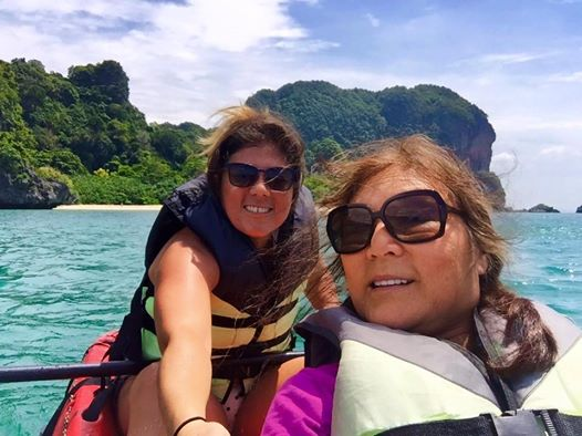 kayaking railay w mom