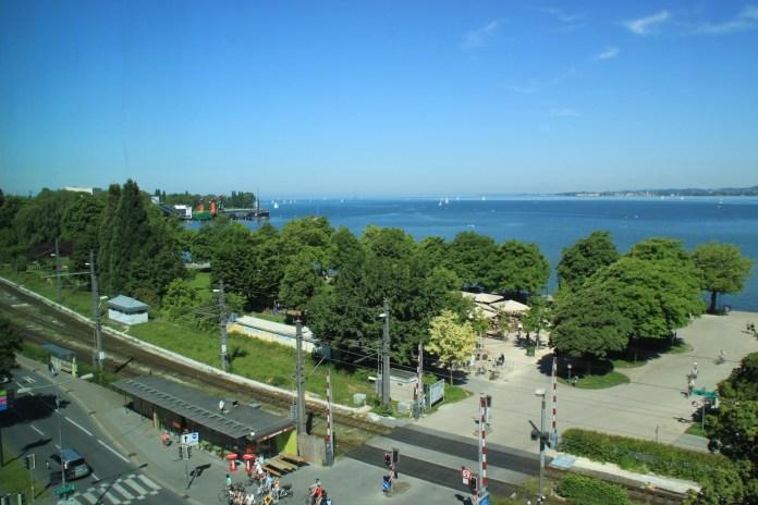 Blick vom Panoramaraum in Richtung Bodensee