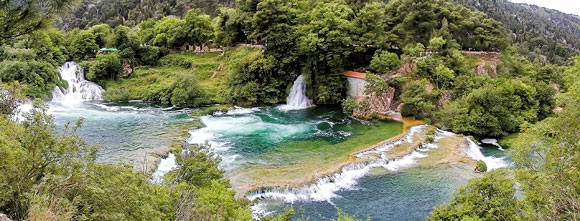 Skradinski-buk waterfalls and pool in Krka National Park, Croatia