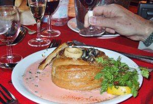 Mushroom vol-au-vent - Seine River Cruise
