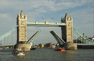 Tower Bridge Opening for Cruise Ship