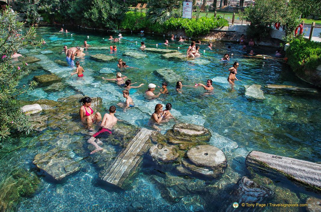 Swimming Pool Antiques : Pamukkale antique pool cleopatra s